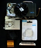 Lot radiatoare ventilatoare coolere heatsink pt placi video HD4870 FX5500