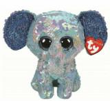 Elefantul Stuart Cu Paiete - plus Ty, 15CM, Boos