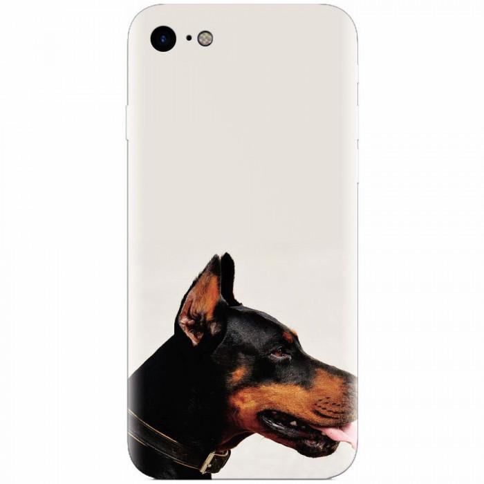 Husa silicon pentru Apple Iphone 7, Doberman