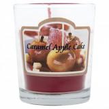 Lumanare parfumata in pahar, model cu aroma de mere si caramel, 5×6,5 cm