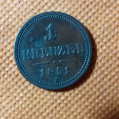 AUSTRIA  1  KREUZER  1851  AUNC