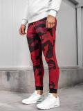 Cumpara ieftin Pantaloni trening bărbați camuflaj-roșu Bolf 0917