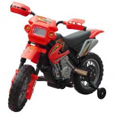 Motocicletă copii 2 km/h cu acumulator Roşu