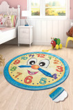 Cumpara ieftin Covor copii , Chilai, Model ceas, multicolor , diametru 140cm, Chilai Home by Alessia
