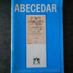 ABECEDARUL CREANGA (reproducere din 1868)