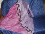 Esarfa batic matase naturala spuma, Multicolor