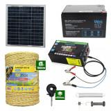 Gard electric cu Panou solar 3,1J putere cu 1000m Fir 160Kg cu acumulator 12Ah