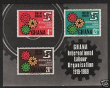 Ghana 1970 Labor Organization, imperf sheet, MNH AJ.079
