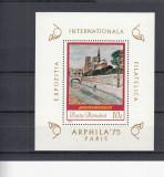 ROMANIA 1975  LP 883   EXPOZITIA INTERNATIONALA FILATELICA ARPHILA PARIS  MNH