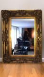 Mobila sufragerie Oglinda Baroc, Oglinda dimensiune mare 130x100cm foita aur
