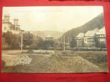 Ilustrata clasica Slanic Moldova - Cazinoul si Hotelul Racovita , Ed.Maier si St, Circulata, Printata