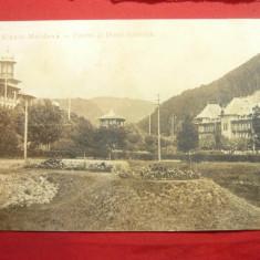 Ilustrata clasica Slanic Moldova - Cazinoul si Hotelul Racovita , Ed.Maier si St