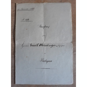 ACTE NOTARIALE VECHI 1898 - MARCA FIXA - TIMBRU SEC - FILIGRAN - CALIGRAFIE