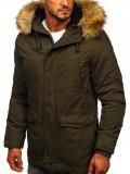 Cumpara ieftin Geacă de iarnă parka verde Bolf 5284