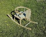 Cumpara ieftin Scaun/ balansoar pentru copii- lemn- vintage/ retro/ shabby