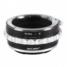 K&F Concept PK/DA-E adaptor montura de la Pentax K/M/A/FA/DA la Sony E-Mount KF06.310