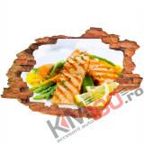 "Sticker ""Wall Crack"" Food 2 - 120 x 80 cm"