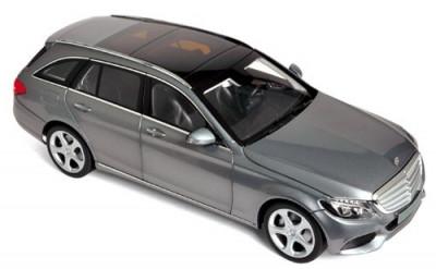 Macheta Auto Norev, Mercedes-Benz C-Klasse Estate 2014 - Gri Metallic 1:18 foto
