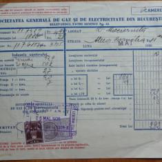 Factura Soc. de gaz si electricitate , Dumitru Mociornita ,mare industrias ,1936