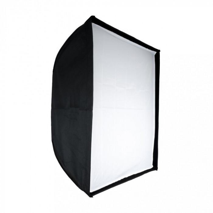 Softbox 100x100cm cu deschidere tip umbrela si montura Bowens