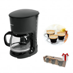 Cafetiera Heinner ART , putere 750W, sistem anti-picurare, Negru foto