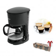 Cafetieră Heinner ART , putere 750W, sistem anti-picurare, Negru