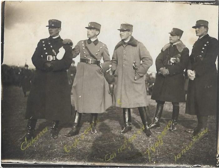 Fotografie ofiteri romani cu sabii anii 1920 poza veche
