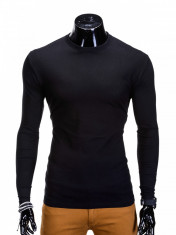 Bluza pentru barbati, din bumbac, negru, simpla, slim fit - L59 foto