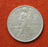 Moneda din argint 2 Lei 1912  Romania Regat