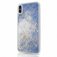 Husa Guess GUHCPXGLUFLBL iPhone XS X Purple Glitter Liquid