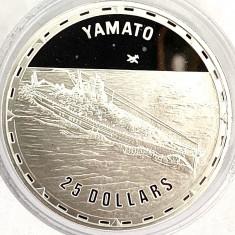 INSULELE SOLOMON 25 DOLLARS 2006,PROOF,(FIGHTING SHIPS-YAMATO),AG.999,GR.31.10
