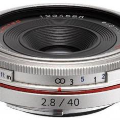 Obiectiv Foto Pentax HD DA 40mm F/2.8 Limited Silver