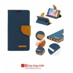 Husa Flip Carte Canvas Samsung G975 Galaxy S10+ Blue