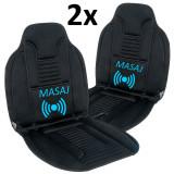Cumpara ieftin Set 2x Huse Scaun Auto cu Incalzire si Masaj 12V Reglabila pe 2 Trepte, Telecomanda, Putere 60W, DeluxeCar