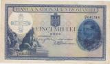 ROMANIA 5000 lei 1931 SUPRATIPAR 1940 SERIE FRACTIE VF+