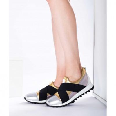 Pantofi piele naturală 40 Auriu foto