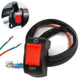 Comutator / Intrerupator ghidon Moto - lumini, buton rosu