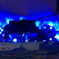 Instalatie luminoasa fibra optica 80 leduri de culoare albastra Autentic HomeTV