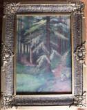 Peisaj montan – pictură interbelică în ulei pe pânză