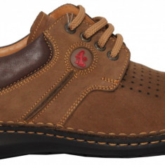 Pantofi barbati casual din piele nabuc cu siret Otter 9560
