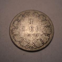 1 leu 1870 Rara