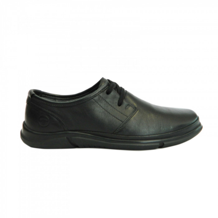 Pantofi pentru barbati din piele naturala, Pablo Gitanos, Negru, 39 EU