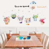 Cumpara ieftin Sticker decorativ, Flowers 139 cm, 81STK