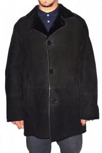 Cojoc barbati, din blana naturala, Kurban, 22-01-95, negru