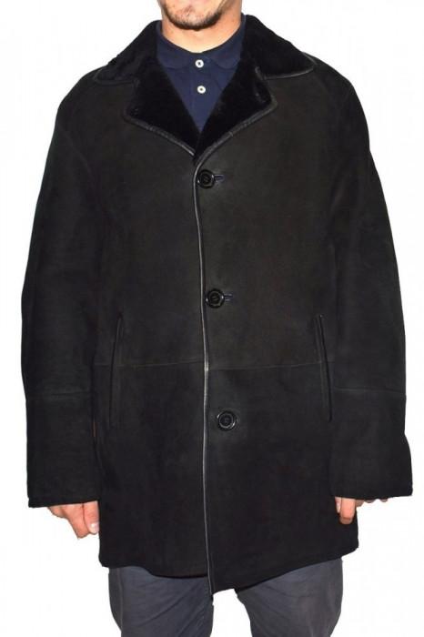 Cojoc barbati, din blana naturala, marca Kurban, 22-01-95, negru