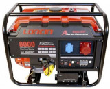Generator Curent Electric Loncin LC8000D-A-1, 7 KW, 15 CP, 380 V