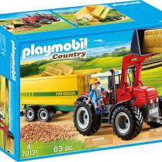 Playmobil Country - Tractor cu remorca galbena