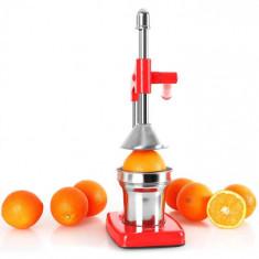 OneConcept ECOJUICER, storcător de fructe, pârghie, roșu