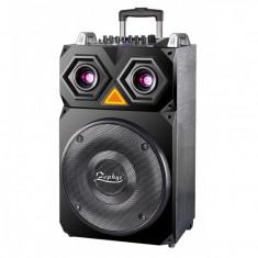 Boxa portabila karaoke Zephyr, 800 W, acumulator incorporat, bluetooth, 2 microfoane incluse