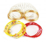 Fir Auriu Otel 100 Cercuri Pentru Confectionat Bratari, KC-P02
